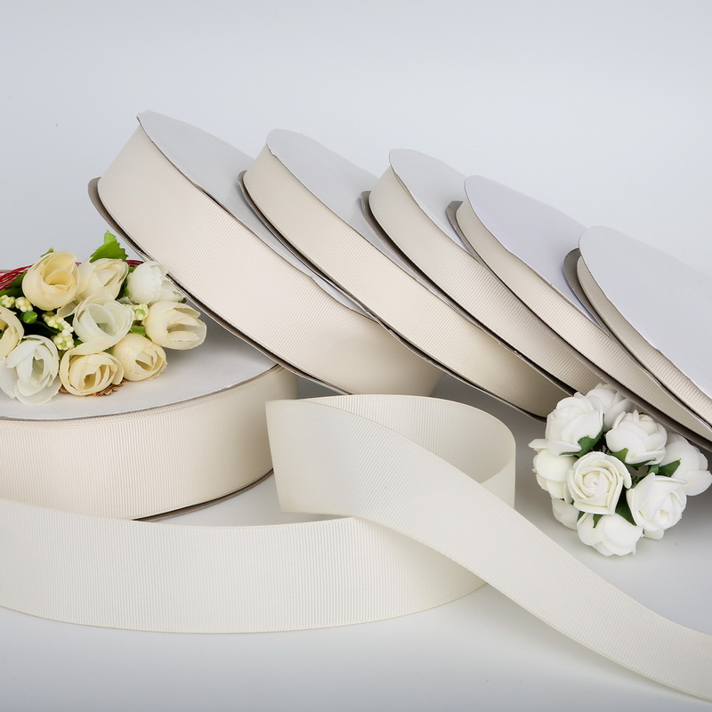 38 mm CREAM WHITE Satin Ribbon Strap Tape Dress Stitching material Gift Binding