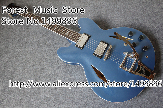 Cheap Hot Selling Dave Grohl DG335 ES Jazz Guitars China With Chrome Bigsby Free Shipping