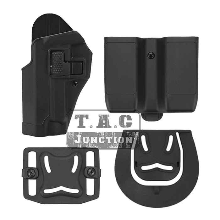 Tactical CQC Serpa Quick Left Hand Paddle Belt Loop Pistol Gun Holster w/ Magazine Pouch Mag Case for Sig Sauer P226 P229 military tactical drop leg thigh holster lv3 light bearing holster for sig sauer p226 p228 p229