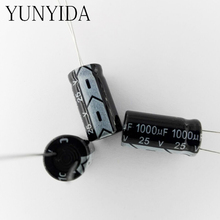 مكثف كهربائيا 1000 فائق التوهج 25 فولت 20 قطعة من الألومنيوم