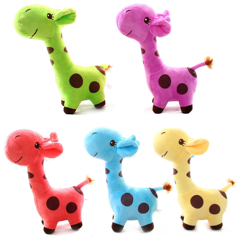2019 New Kawaii Plush Giraffe Stuffed Animal Cartoon Doll Soft Plush Toy Outdoor Game Funny For Kid Baby Birthday Gift Toy18*8CM