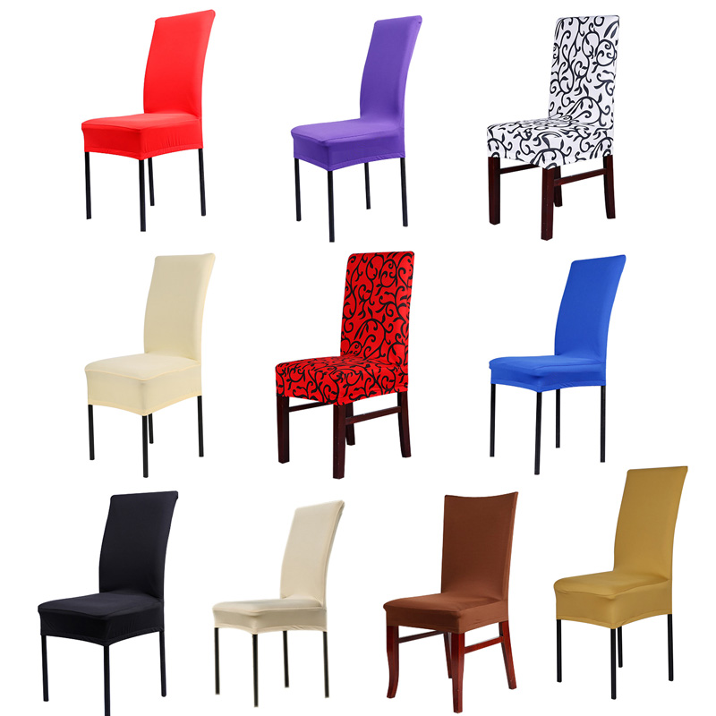 1pc Home Chair Cover Wedding Decoration Various Colors Polyester Spandex Dining Covers For Party