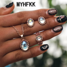 MYHFKK jewelry fashion classic personality wild imitation pearl necklace bride set wholesale jewelry set XL022(China)