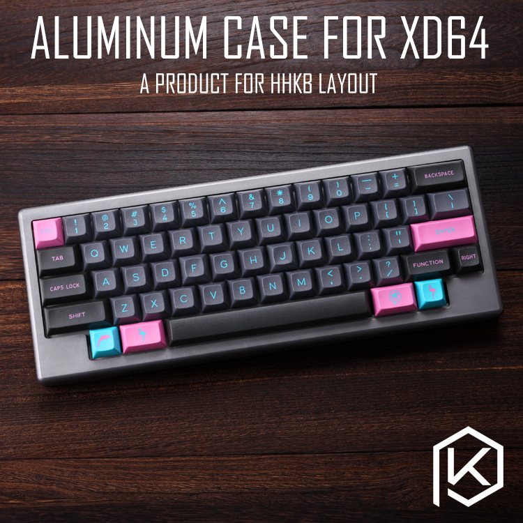 US $81 9 |Anodized Aluminium case for xd60 xd64 60% hhkb layout custom  keyboard acrylic panels diffuser can support gh60 xd64 xd60 60%-in  Keyboards