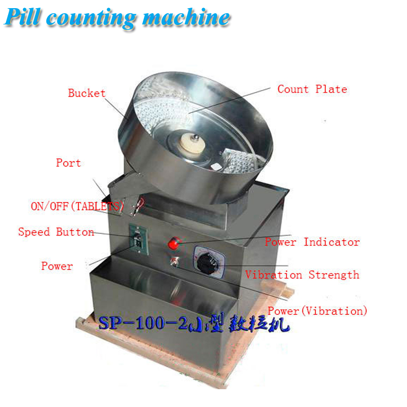 Pills Counting Machine With 3-Digit Counters Capsule Tablet Counting Machine SP-100-2 Counting Equipment For Tablets the counting meter pulley with coating ceramic for extruding machine