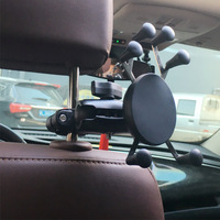 360 Degree Rotation Car Headrest Rail Mount Motorcycle Rear View Mirror Rail Mount Base Phone Holder