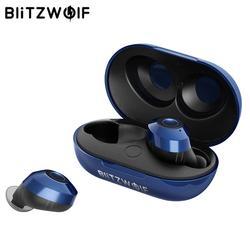 Blitzwolf FYE5 Bluetooth 5,0 Беспроводной True наушники СПЦ спортивные наушники 10 м связи стерео наушники IPX6 Водонепроницаемый-синий черный