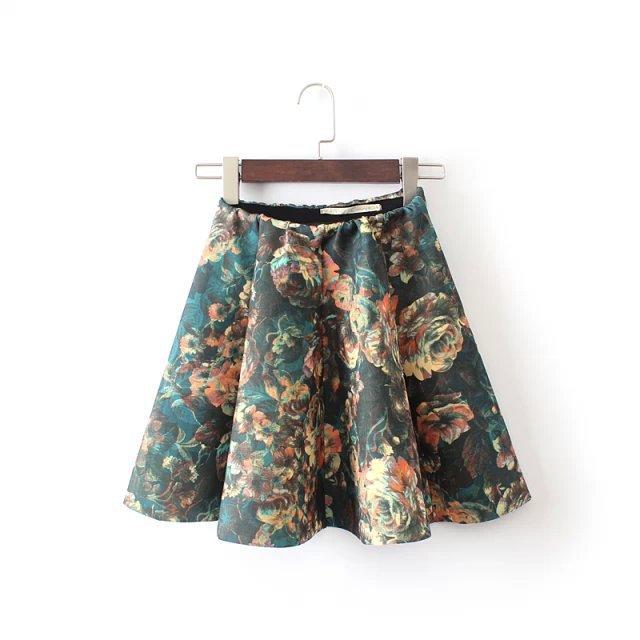 Printed Short Skirts - Skirts