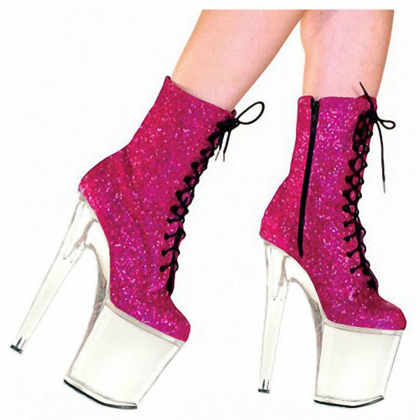 20 Frauen rosa Party Cm Schwarzes Top Fashion Plattform Botas Zeitlich Zoll 2016 Mode Begrenzte Ladies Stiefel Stiefeletten Mujer Untere Sexy C0ZxCgHwq