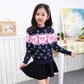 2017 Children's sweater   Winter New sweater  Hedging Round collar Children Clothing Girls Sweater  Warm sweater Cotton