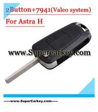 Envío gratis (1 unids) 2 Botón Del Tirón la Llave Alejada 433 MHZ Para Opel Astra Con PCF7941 Chip