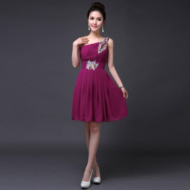 plus size hot pink knee length red coral royal blue colored bridesmaid  royal blue short bridesmaids dresses -purple S2683 f9ab9f40e083