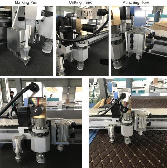 Vibrierende messer schneiden maschine für leder, CNC Oszillierende messer Schneiden Maschine für auto sitz, der