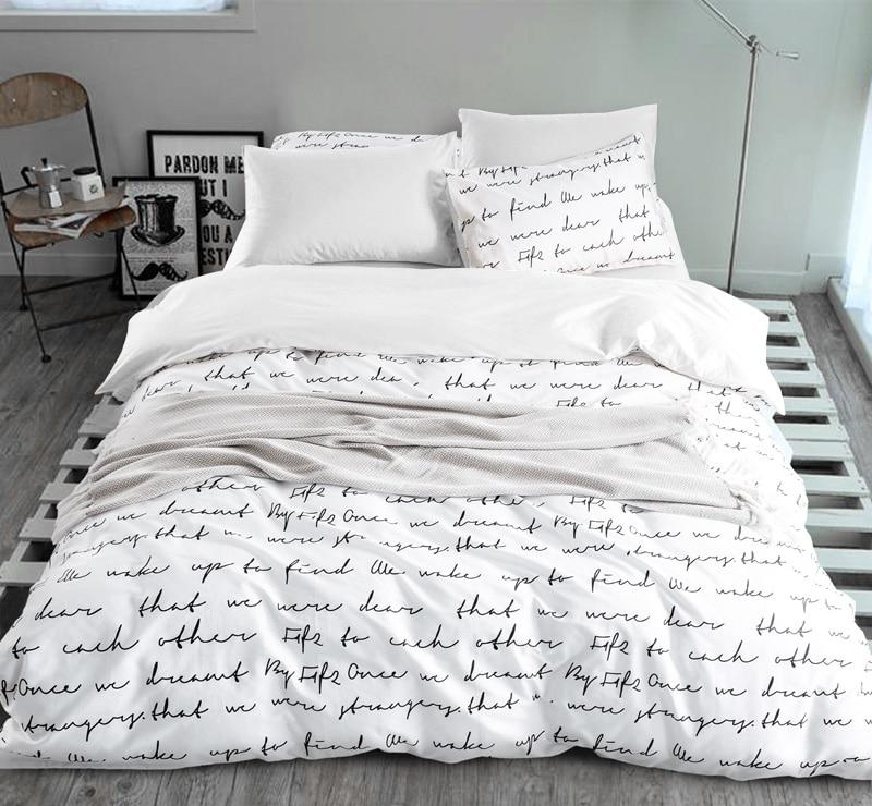 Letter Printing Duvet Cover Sets Activity Bedding sets