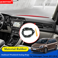 Car styling Anti Noise Soundproof Dustproof Car Dashboard Windshield Sealing Strips Accessories For Volkswagen Touran 2011 2018|Sound & Heat Insulation Cotton| |  -