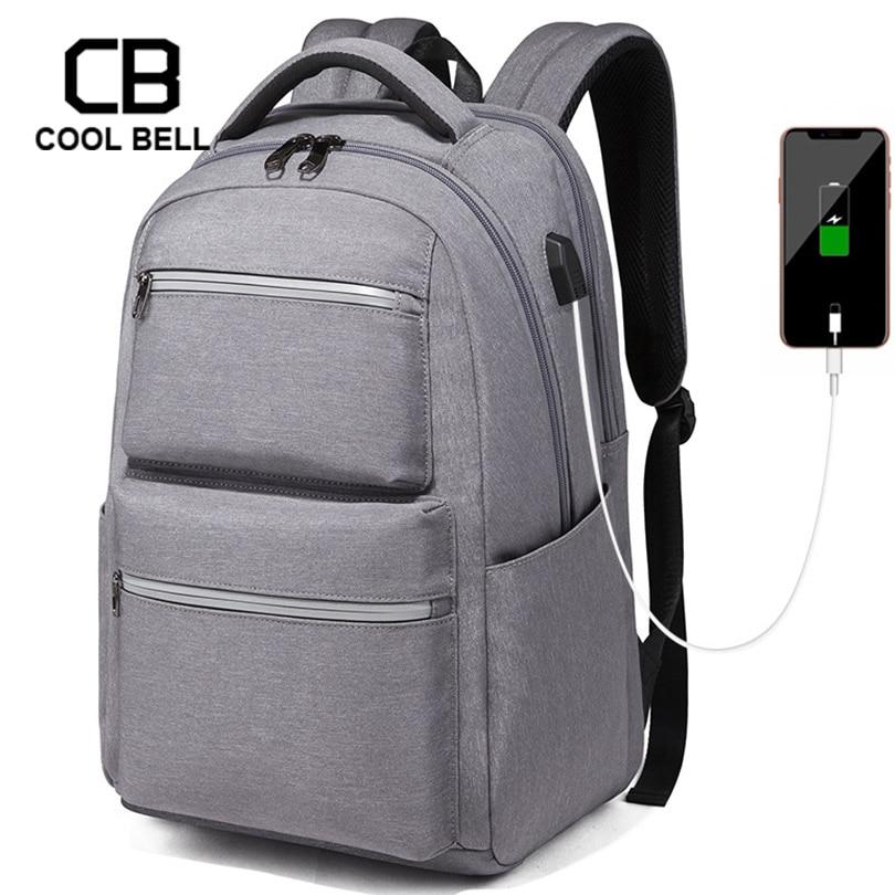 Hommes d'affaires sac à dos sport décontracté USB charge voyage sac à dos sacoche pour ordinateurs portable pour adolescents sacs à dos étanche homme