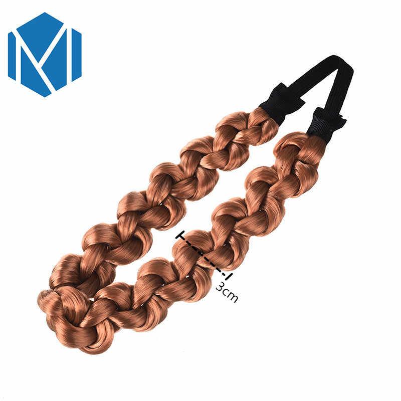 М мизм 3 см синтетический парик твист резинки для волос модные косы аксессуары для волос женские богемные плетеные эластичные повязки стрейч-бандана