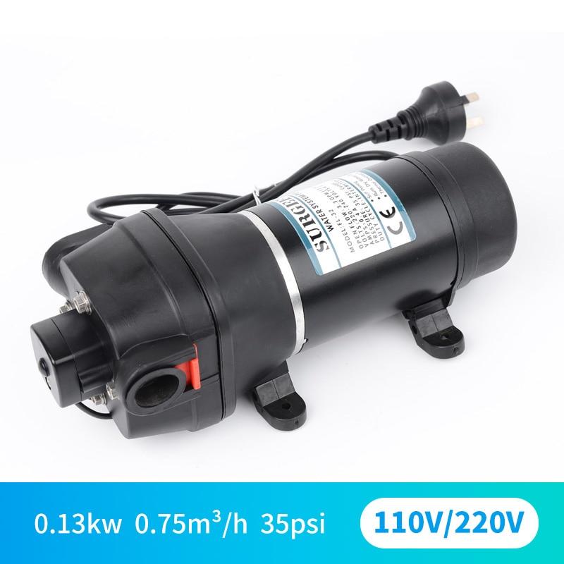 DC 110 V 220 V micro-miniature AC diaphragme électrique pompe auto-amorçante chauffe-eau pompe d'augmentation de pression de circulation