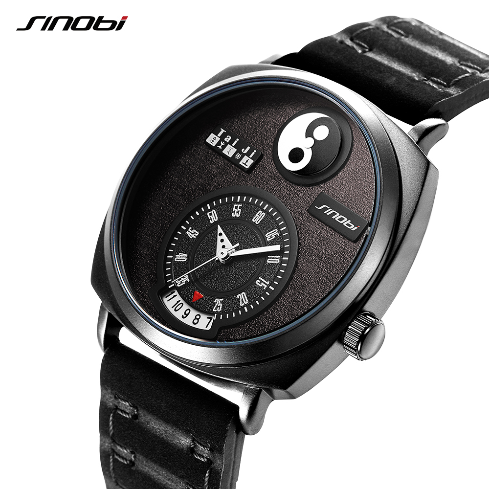 Sinobi Watches Men Creative Tai Chi Style Modern Designi 2018New Top Luxury Brand Men Watch Quartz Wrist Watch цена 2017