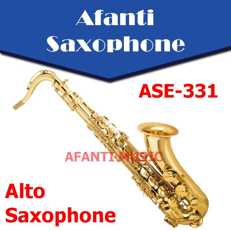 Afanti Music Eb tone / Brass body / Gold finish Alto Saxophone (ASE-331)