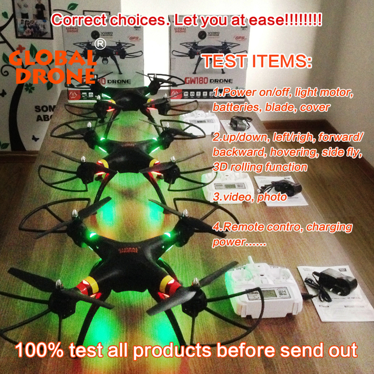 14Global Drone GW180 Dron with Camera WIFI HD FPV Hovering Quadrocopter Can Carry 4K Camera Drones