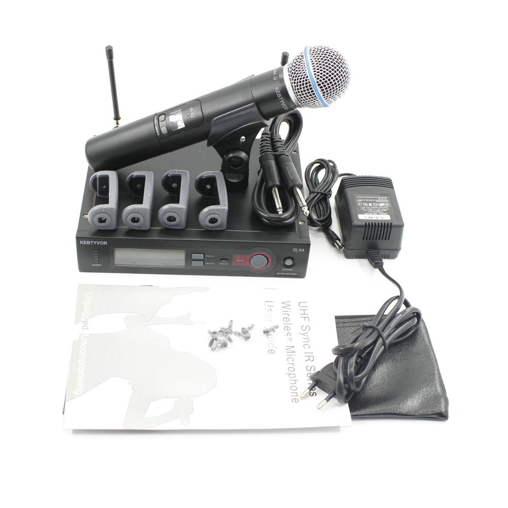 Ship Russia SLX24 SLX BETA58 UHF Wireless Microphone System Professional Single Handheld Wireless Mic for Stage