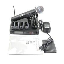 Enviamos A Rússia SLX SLX24 BETA58 UHF Sistema de Microfone Sem Fio Profissional Único Handheld Sem Fio Mic para Stage Karaoke DJ
