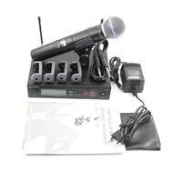 Navio rússia slx24 slx beta58 uhf sistema de microfone sem fio profissional único handheld sem fio microfone para palco karaoke dj