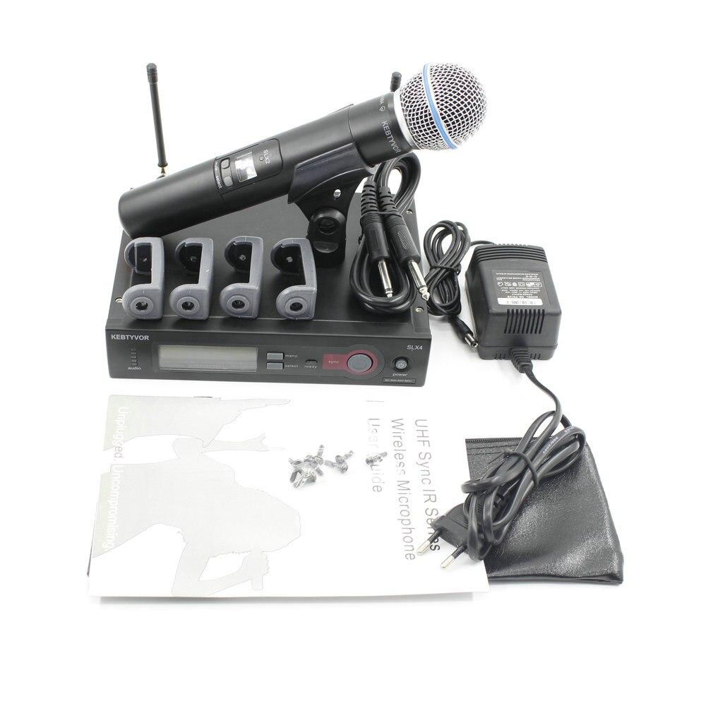 Navire russie SLX24 SLX BETA58 UHF système de Microphone sans fil professionnel unique micro sans fil portable pour scène karaoké DJ