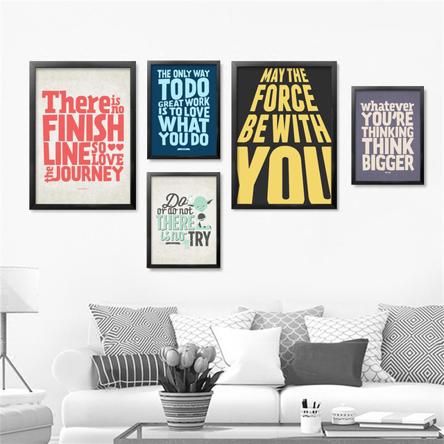 Office English Inspirational Quote Canvas Art Print Poster, Office Wall  Pictures For Home Decoration,