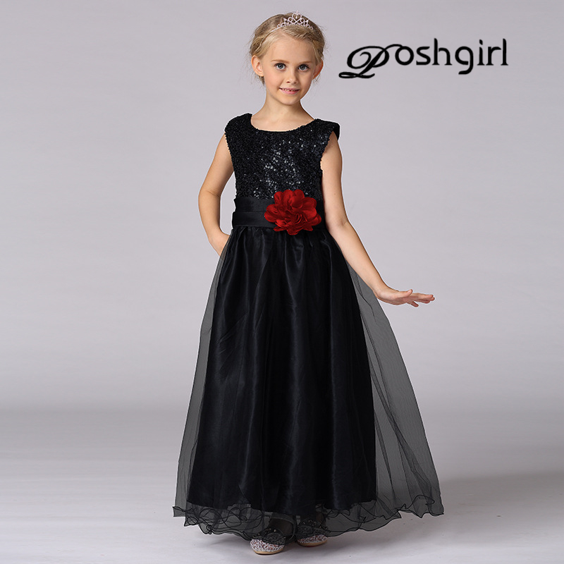 Summer Christmas cute flower Girls Dress sequined mesh Girl Clothing Sleeveless Princess Dresses Girl Party Costume Kids girls 2017 summer girls vest dresses cute sequined kids sleeveless dresses for girls new 1 7t princess dress fit little child