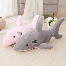 цена на 1pc 50/70/80/100/130cm Cartoon Shark Cushions Stuffed plush toys Emulation Marine Animal doll pillows  High-quality plush fabric