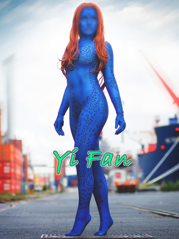 3D Print Mystique Cosplay Costume Spandex Zentai Bodysuit Halloween Costumes for Woman Hot Sale Free shipping
