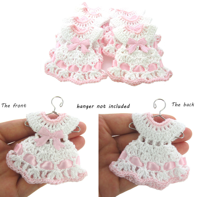 Envío libre 12 miniatura ganchillo suéter del bautismo de la ducha ...