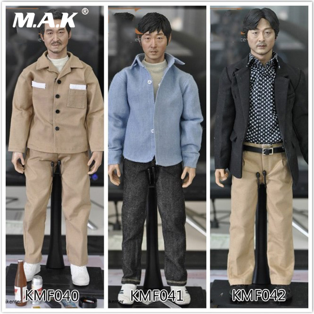 For Collection Custom KUMIK KMF040/41/42 1/6 Scale Asian Korean Super Star Male Head Body Action Figure Full Set Toys kumik kmf029 1 6 comic version catwoman with two head shape12inch male doll set of end product