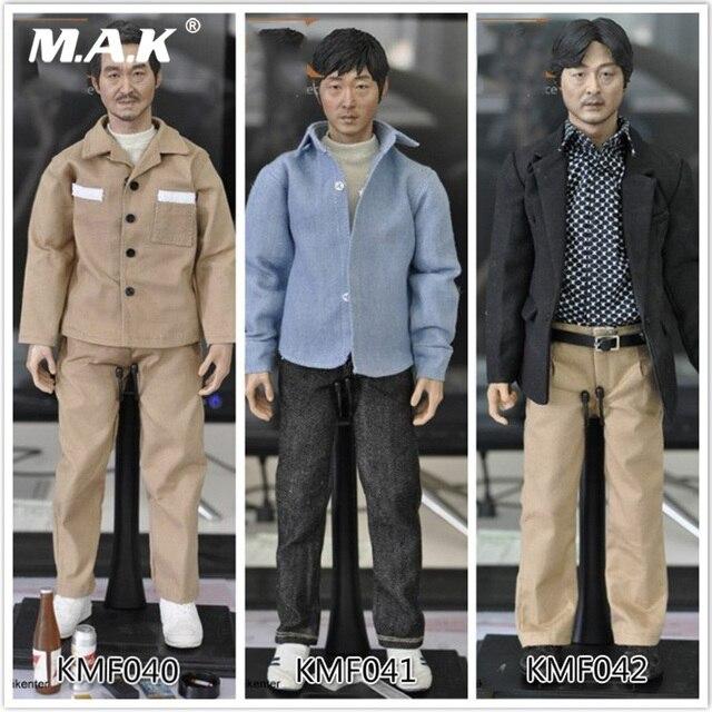 For Collection Custom KUMIK KMF040/41/42 1/6 Scale Asian Korean Super Star Male Head Body Action Figure Full Set Toys
