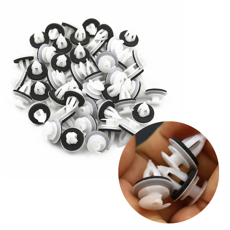 20Pcs Car Door Panel Clips Buckle With Seal <font><b>Ring</b></font> For BMW E36 E38 E39 E46 X5 M3 M5 Z3 White Plastic Clips Fasteners <font><b>3</b></font> <font><b>mm</b></font> image
