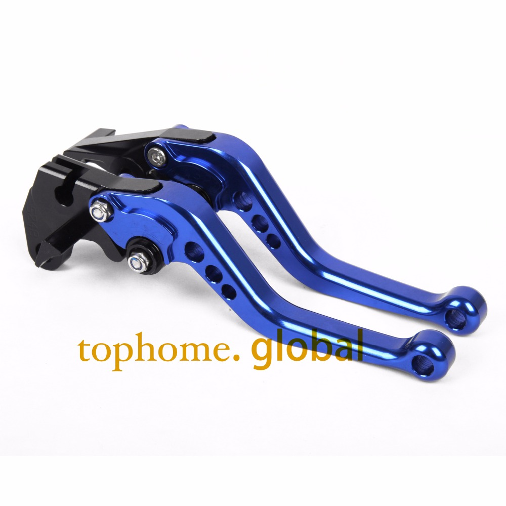 For Yamaha XT660 XT660R XT660X 2004 - 2014 Short Clutch Brake Levers CNC Blue 2005 2006 2007 2008 2009 2010 2011 2012 2013 cnc rear wheel axle cover cap kit for 05 14 2005 2006 2007 2008 2009 2010 2011 2012 2013 2014 harley sportster 883 1200