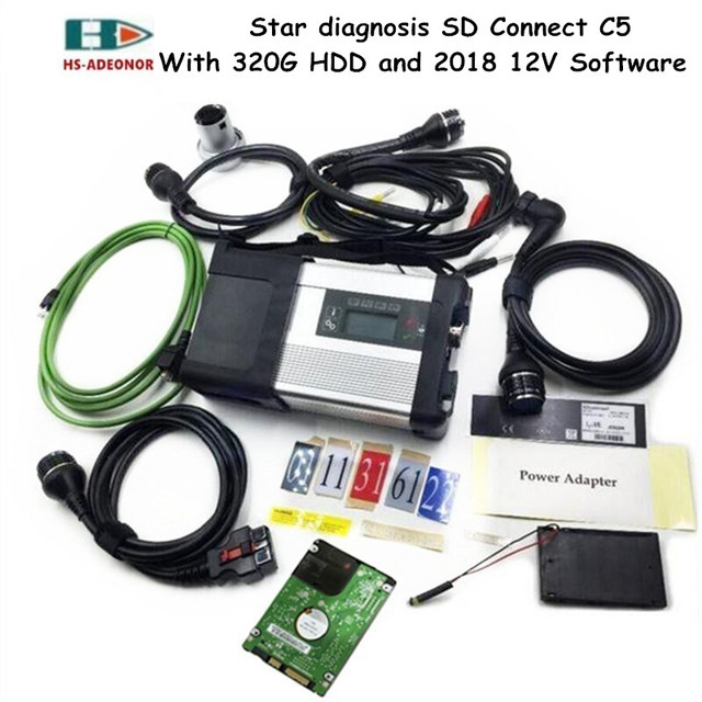 US $452.68 16% OFF|High quality MB STAR C5 for Benz obd 2 connectors on