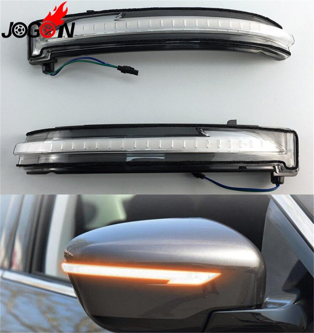 Accessoires LED dynamique clignotant miroir pour Nissan Rogue x-trail T32 Qashqai G11 2014 + Murano Z52 Pathfinder R52 2017 +