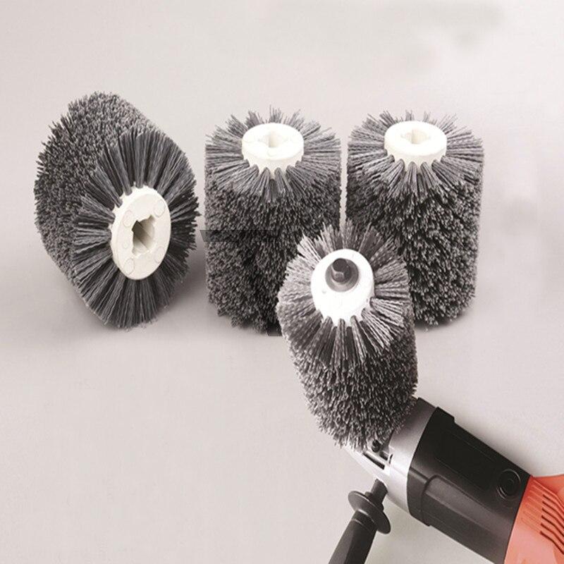 120*100*20mm Abrasives Wire Drawing Wheel P80 P120 P240 Drum Brush Burnishing Polishing Wheel Wooden Furniture Striping  цены