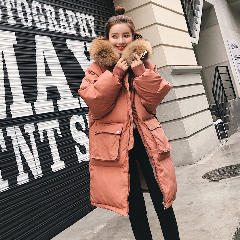 Pregnant Women Long Type Thicken Collar Hooded Cotton Padded Jacket Winter Outdoor Coat new winter women coat thicken down cotton coat for women parkas hooded woman jacket long winter coat woman padded outwear female