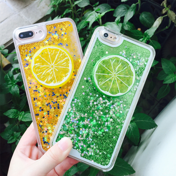 For Samsung Galaxy Note 5 Note 4 Note 3 Cases lemon Stars Glitter Dynamic Liquid hard PC Protective shell Phone Case Back Cover