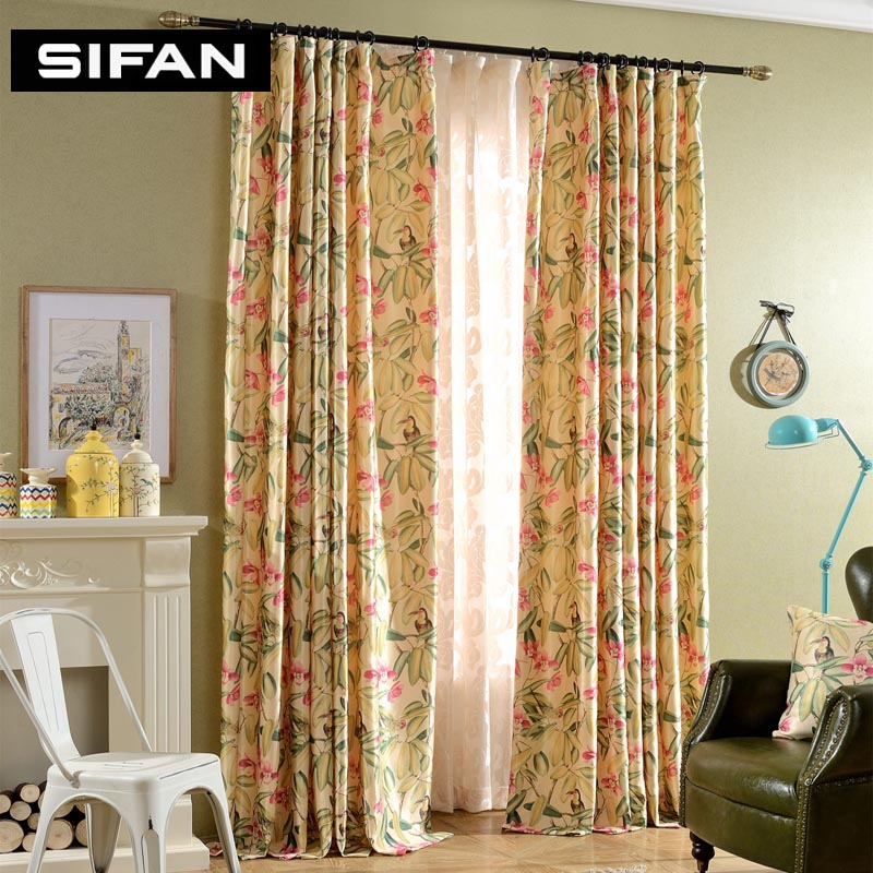 Luxury Printing Curtains Fancy Window Curtains For Living Room Bedroom Curtains Window Drapes