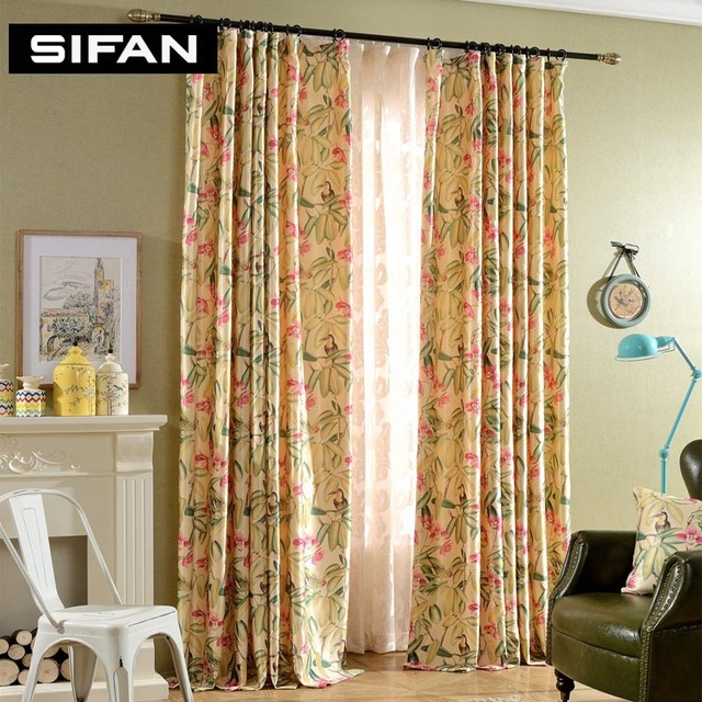 Luxury Printing Curtains Fancy Window Curtains For Living Room Bedroom  Curtains Window Drapes Velvet Voile Curtains