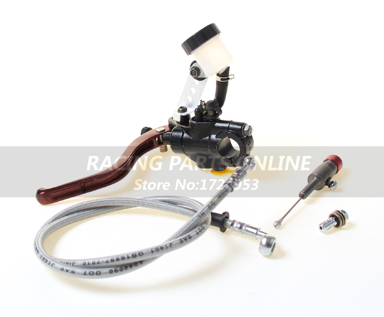 High quality 1.2m bigger pump Hydraulic Clutch Lever master cycliner for 250cc Dirt Pit Bike ATV quad Motorcycle free shipping high quality dirt pit bike atv quad motorcycle right front brake pump refit brake master cylinder pump free shipping
