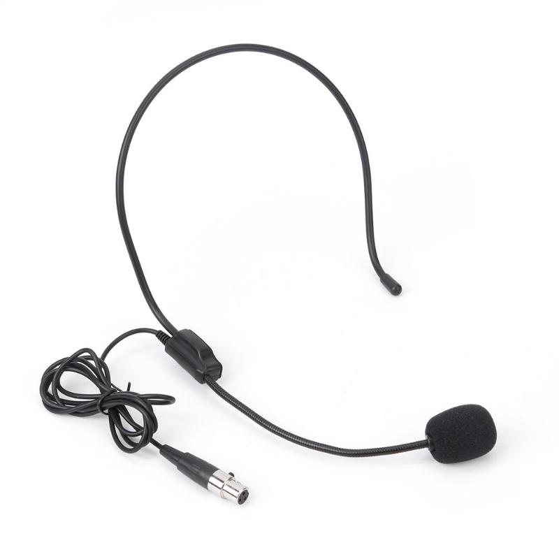 Mini XLR 3Pin TA3F Connector Wired Earhook Headworn Headset Condenser Microphone Improving Speech Gain Effectively