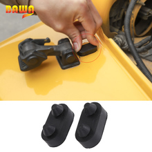 BAWA Styling Mouldings for Jeep Wrangler TJ 1997-2006 Engine Cover Rubber Stopper Protection Accessories for Jeep Wrangler tj shineka car styling soft rubber armrest box trim cap center console storage box soft rubber cover for jeep wrangler tj