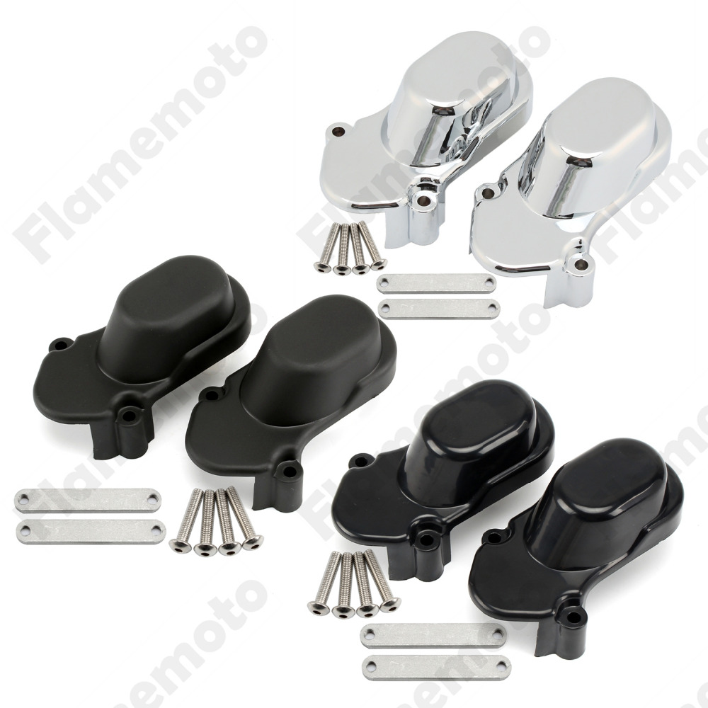 Motorcycle Chrome black Rear Cover cap Kit For Harley Davidson Sportster XL883 XL1200 abs rear chrome axle cap cover kit motorcycle decorative accessories for harley davidson sportster xl883 1200n 2005 2014 7395