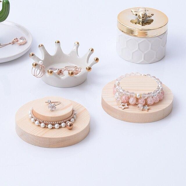 Aliexpress Buy New Fashion Hat Shape Solid Wood Bracelets Interesting Tea Set Display Stand For Sale